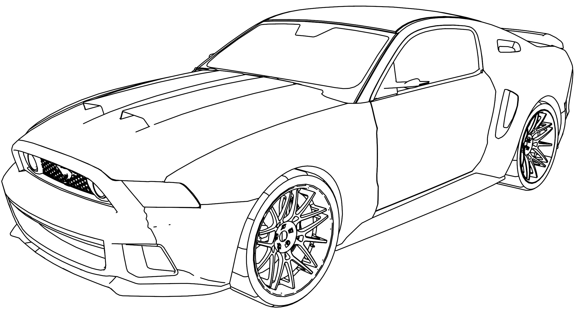 mustang gt car coloring page. Black Bedroom Furniture Sets. Home Design Ideas