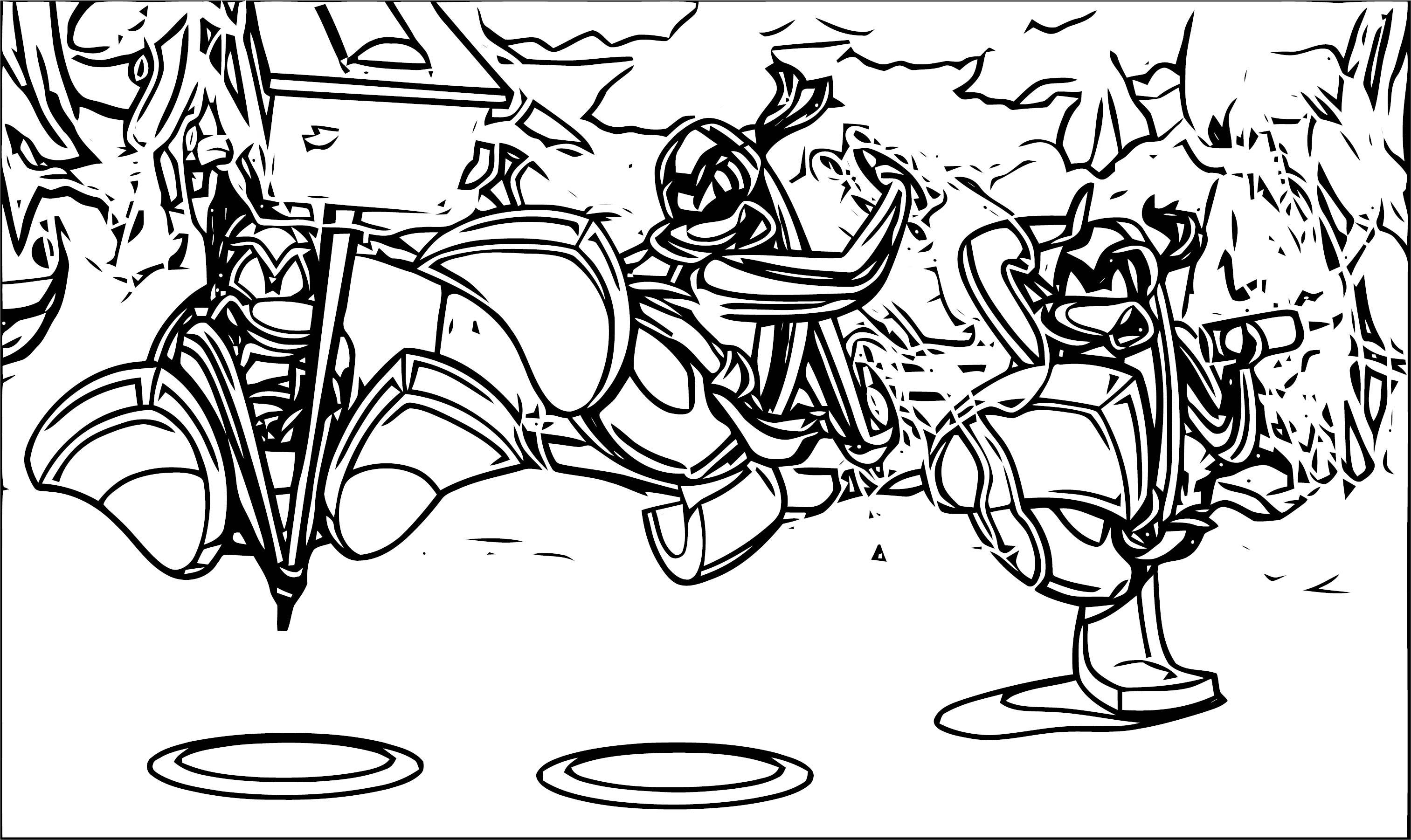 Ninjas Unite Coloring Page