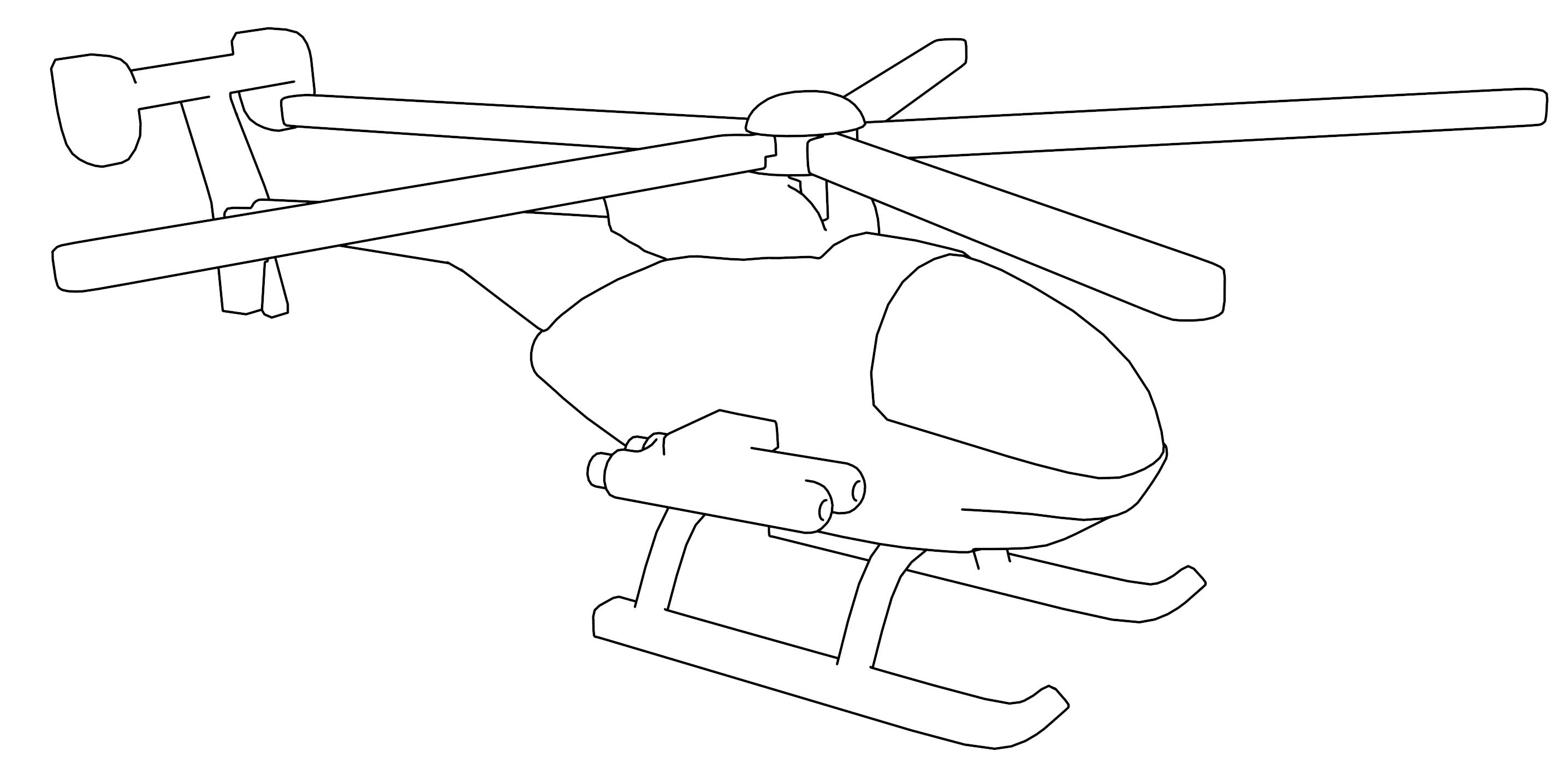Observation Scout Helicopter W Rocket V1 Coloring Page