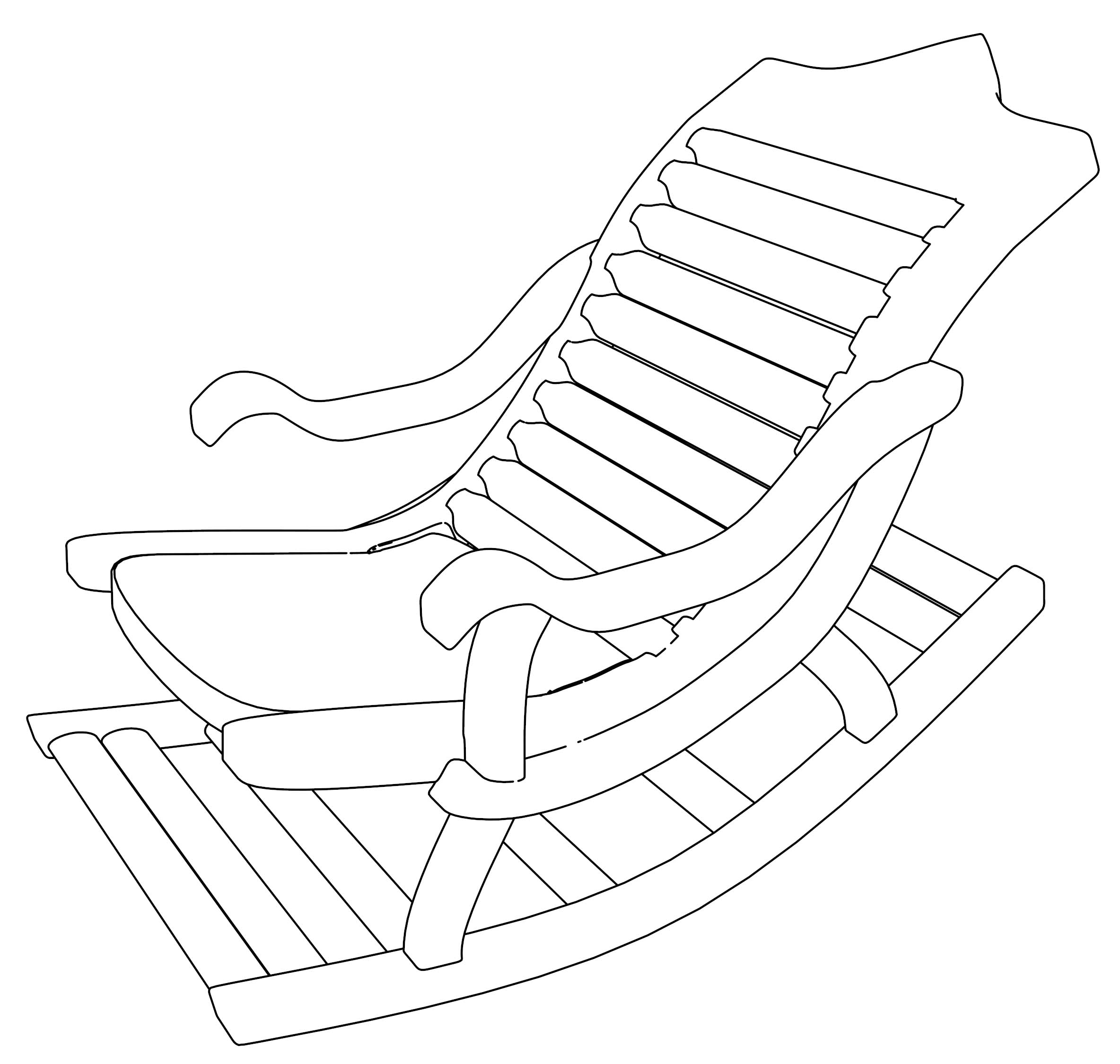 Old Rocking Chair Coloring Page