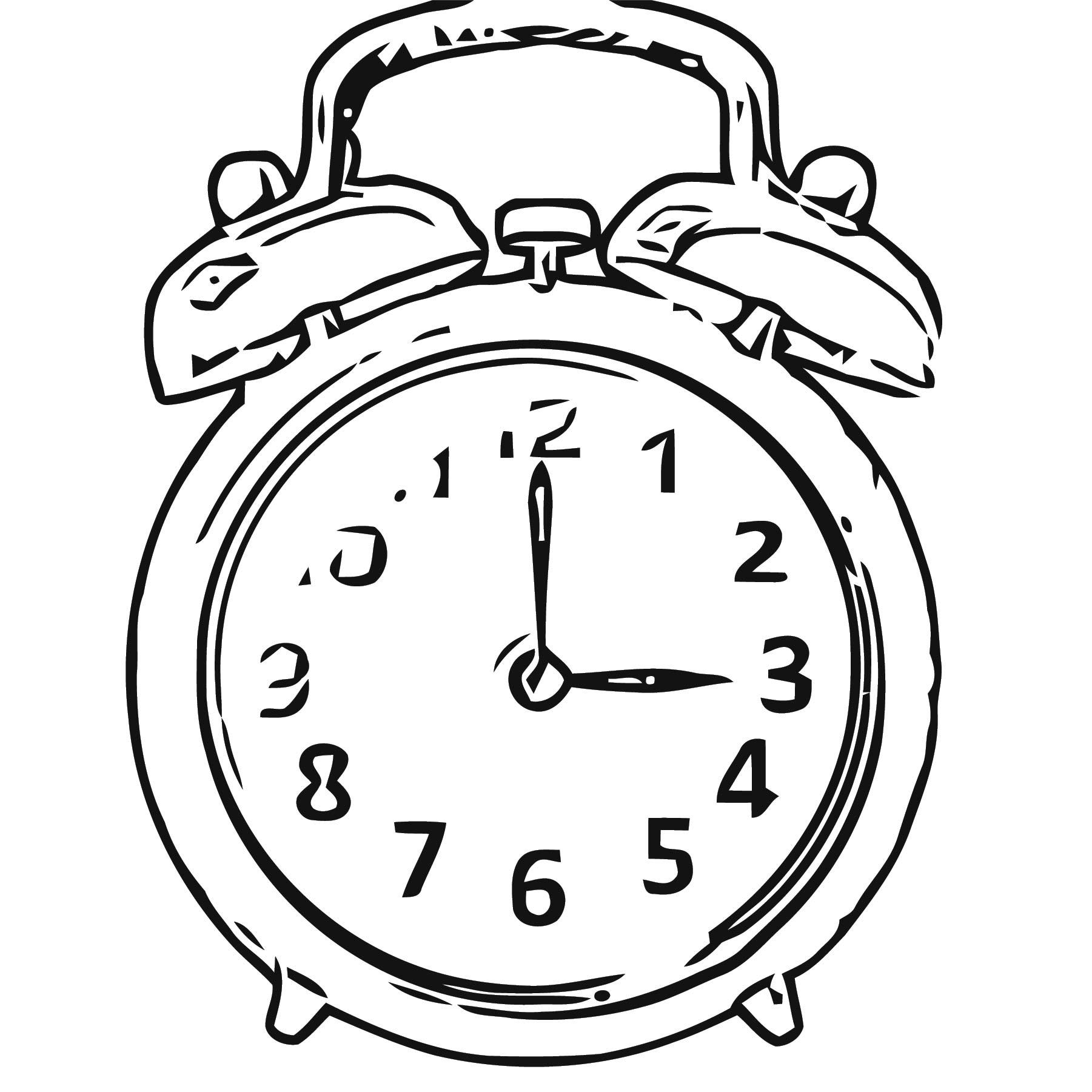 Online Alarm Clo Free Printable Ck Cartoonized Free Printable Coloring Page