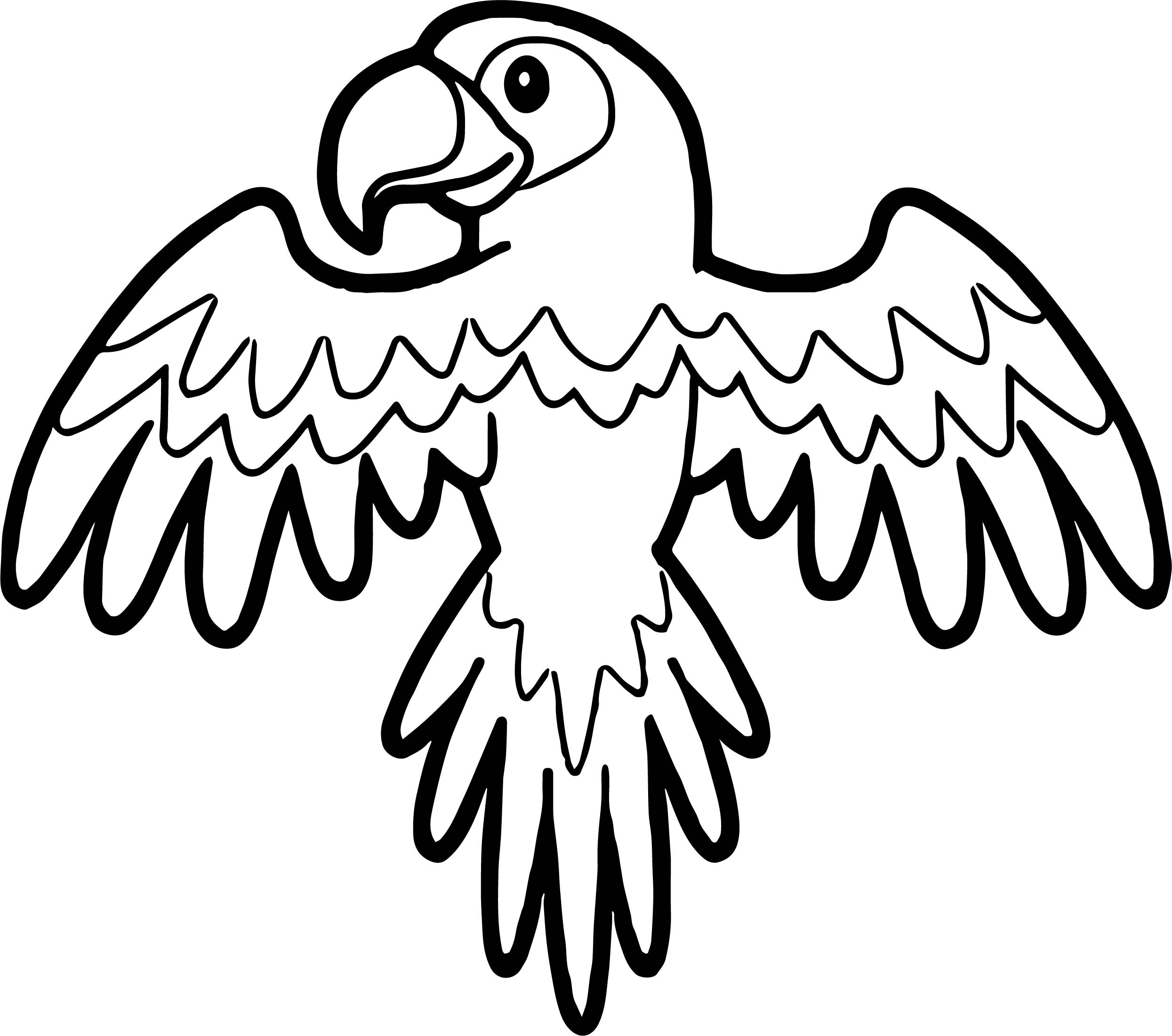 Parrot Coloring Page 031