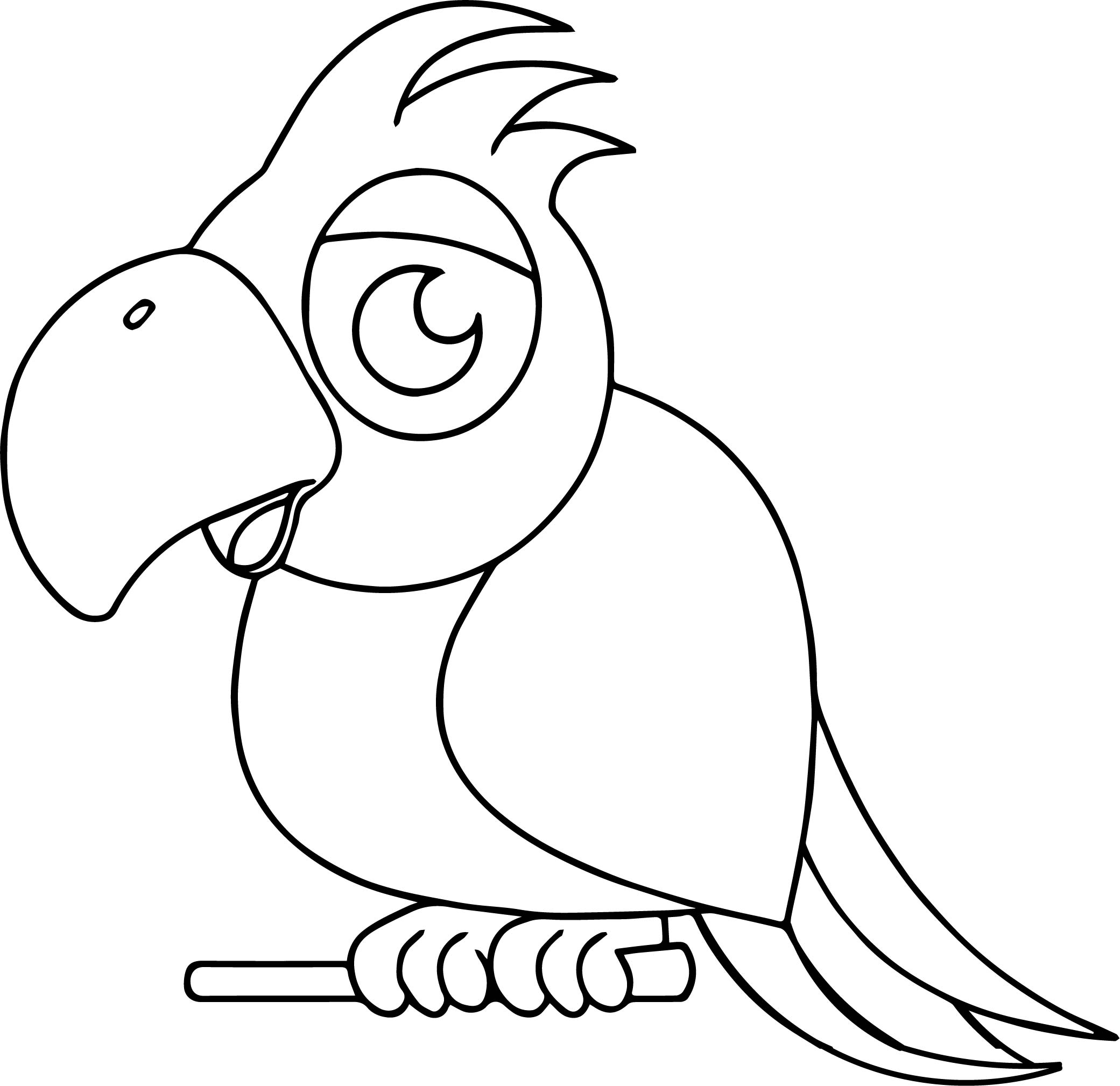Parrot Coloring Page 032