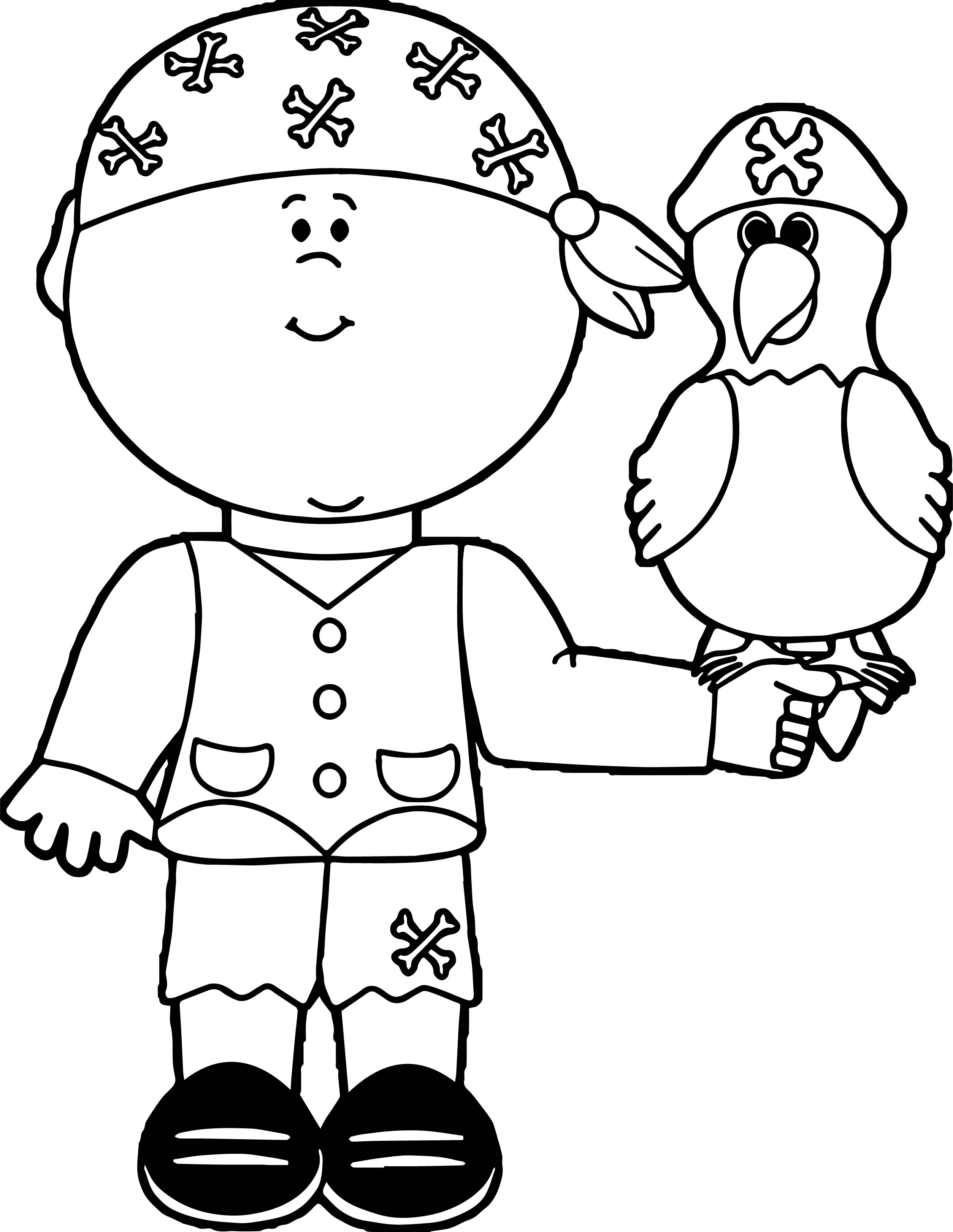 Parrot Coloring Page 068