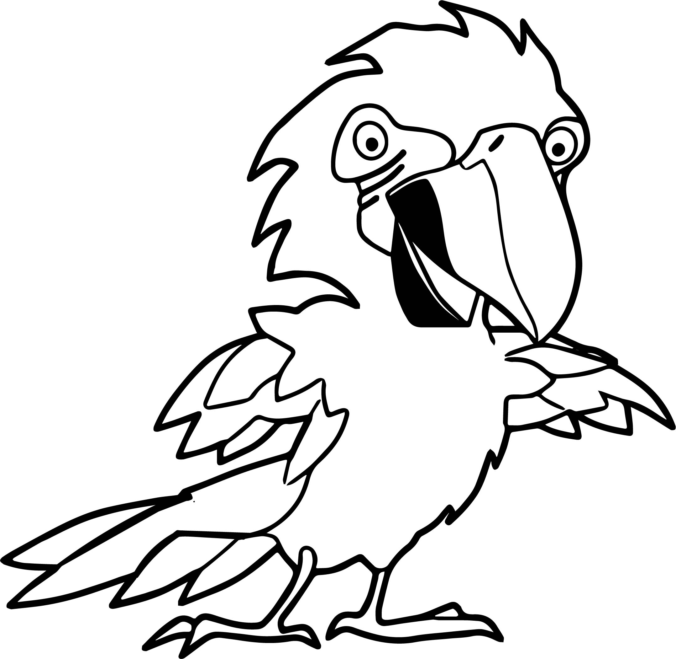 Parrot Coloring Page 081