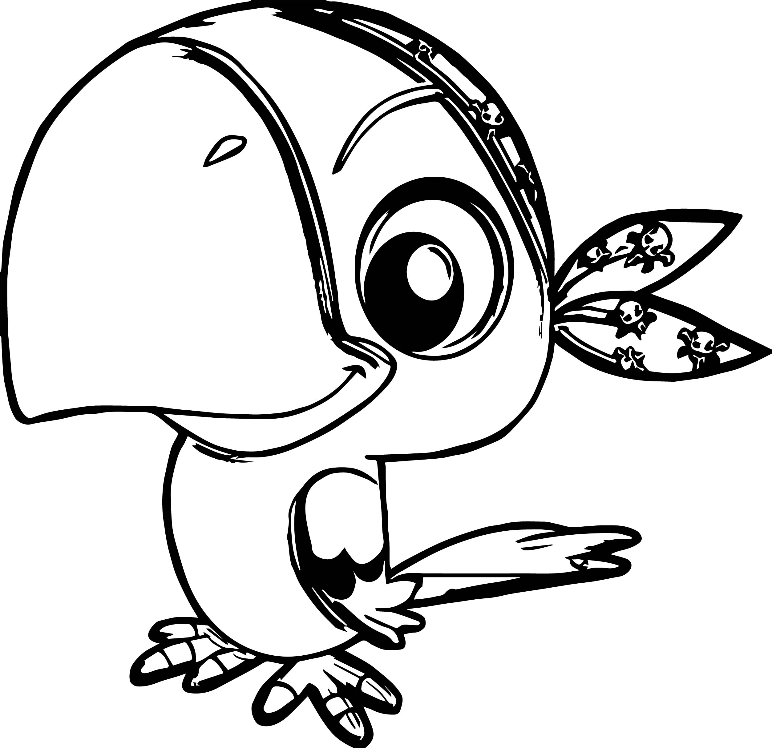 Parrot Coloring Page 100