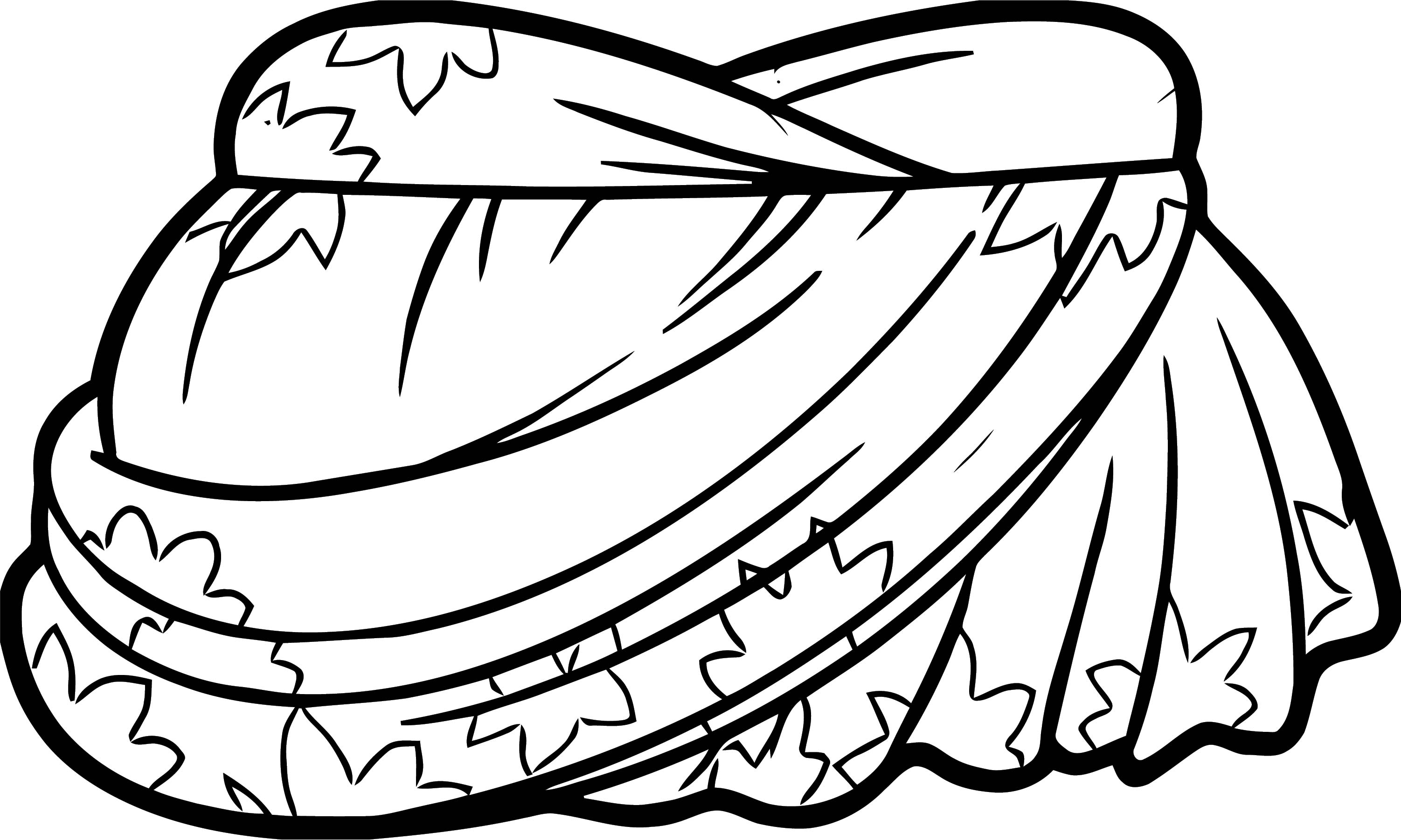 Petal Pattern Dress Coloring Page