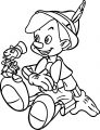 Pinocchio And Jiminy 1 Coloring Page