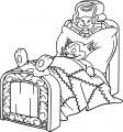 Pinocchio Cleo Fish Bed And Figaro Cat Sleeping Coloring Page