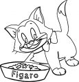 Pinocchio Figaro Cat Coloring Page