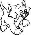 Pinocchio Figaro Cat Walking Coloring Page