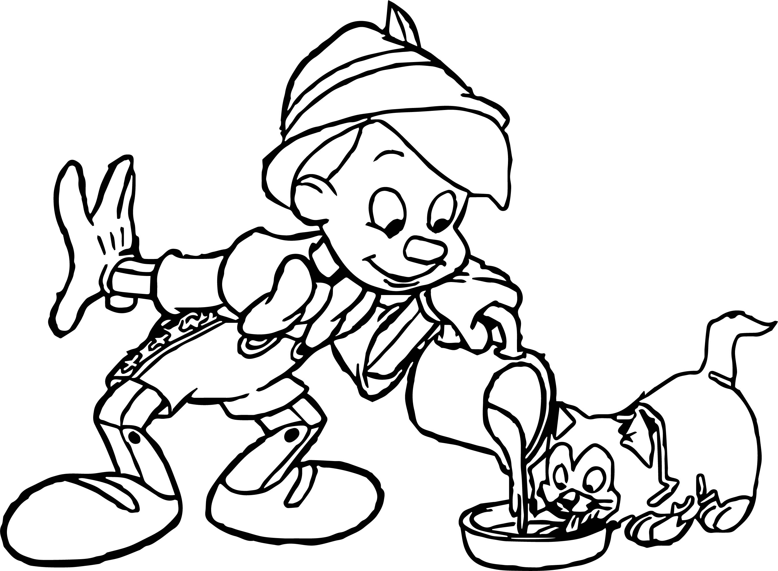 Pinocchio Figaro Milk Coloring Page | Wecoloringpage.com
