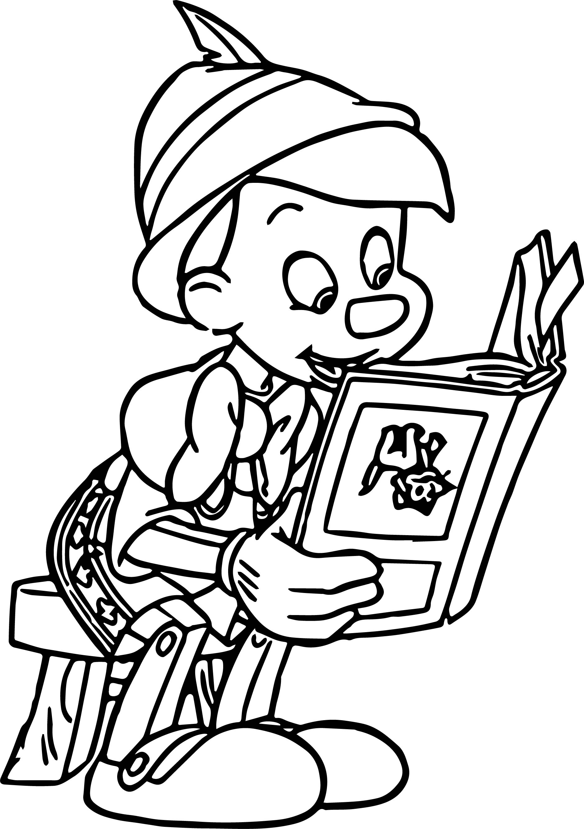 Pinocchio Flip Book Reading Coloring Pages