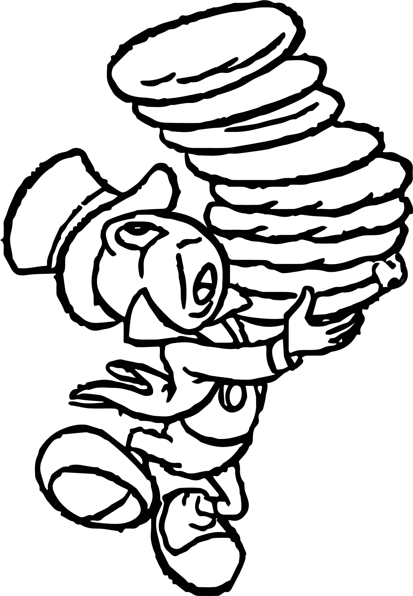 Pinocchio Jiminy Cricket Cookies Coloring Page