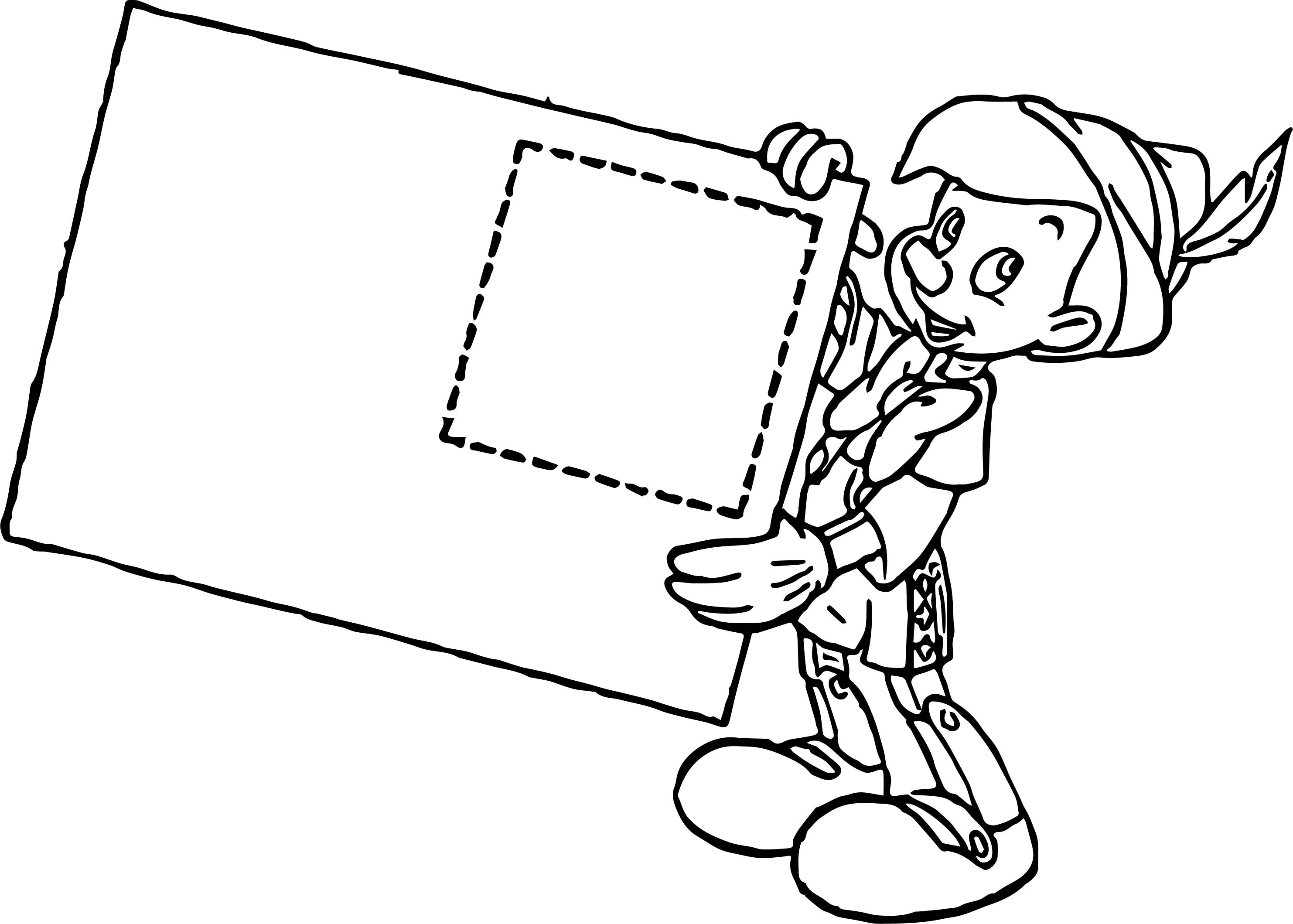 Pinocchio Letter Coloring Pages