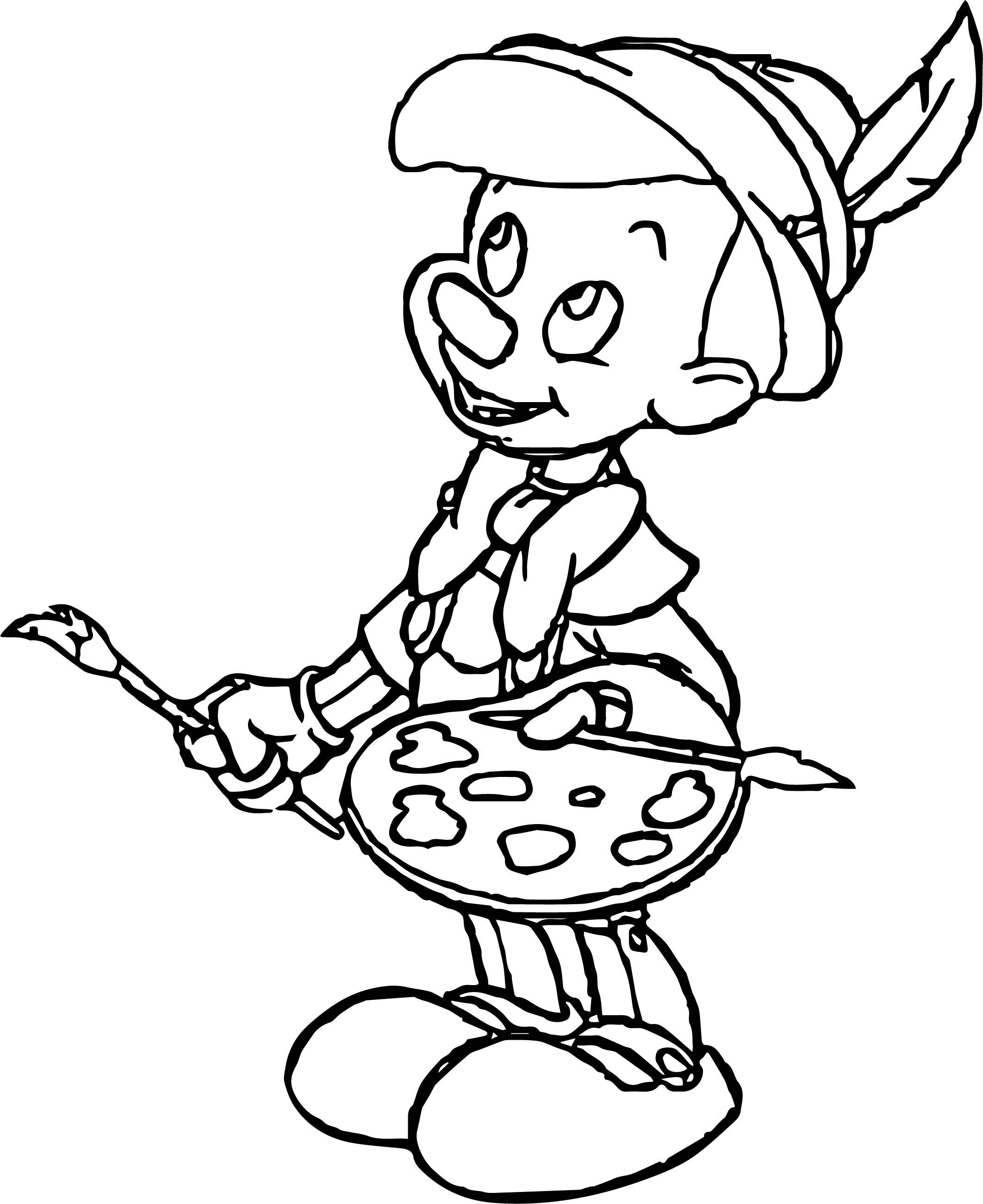 Pinocchio Paint Coloring Pages