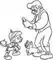 Pinocchio Ready For School Coloring Page