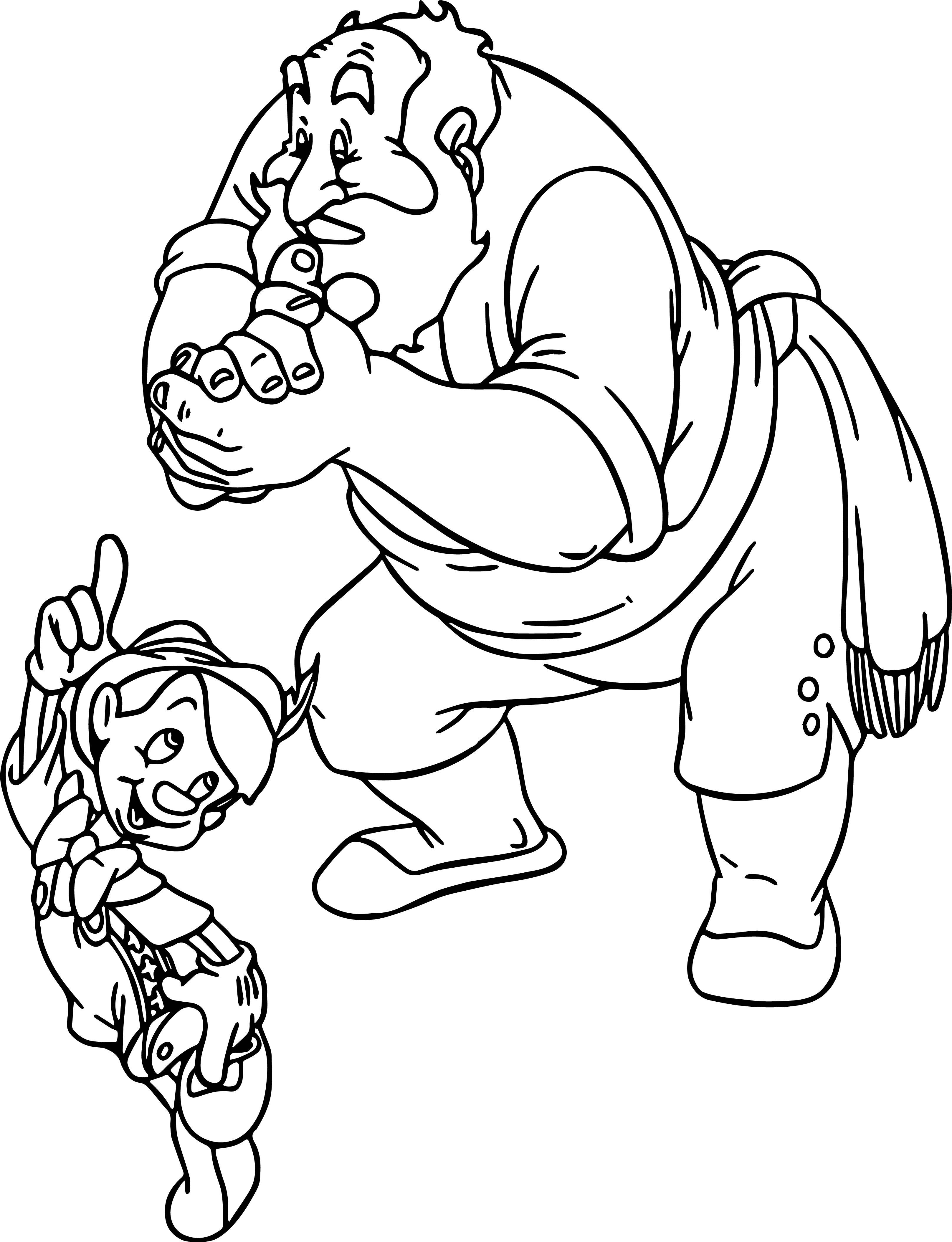 Pinocchio Stromboli Coloring Page