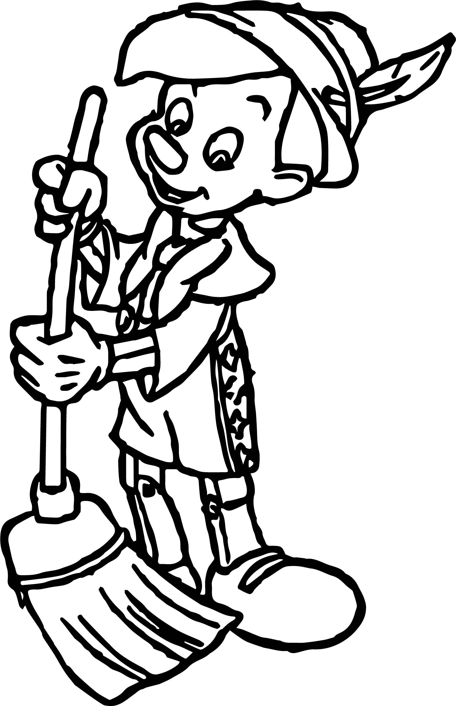 Pinocchio Sweep Coloring Pages