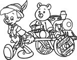 Pinocchio Train Bear Toys Coloring Pages