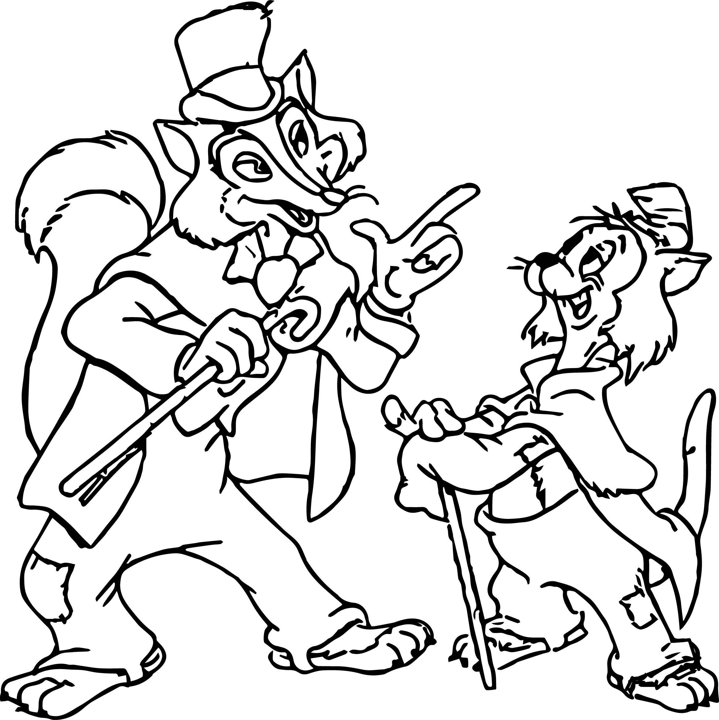 Pinocchio Villains Coloring Page