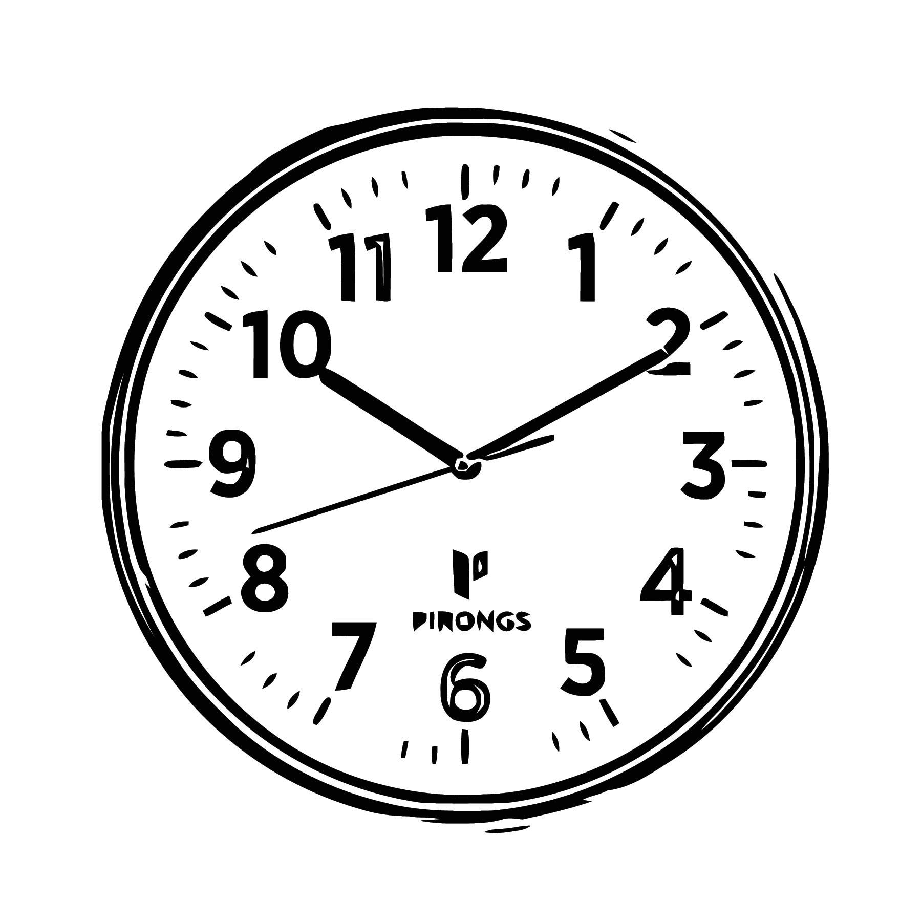 Pirongs Clock Free Printable 1 Cartoonized Free Printable Coloring Page