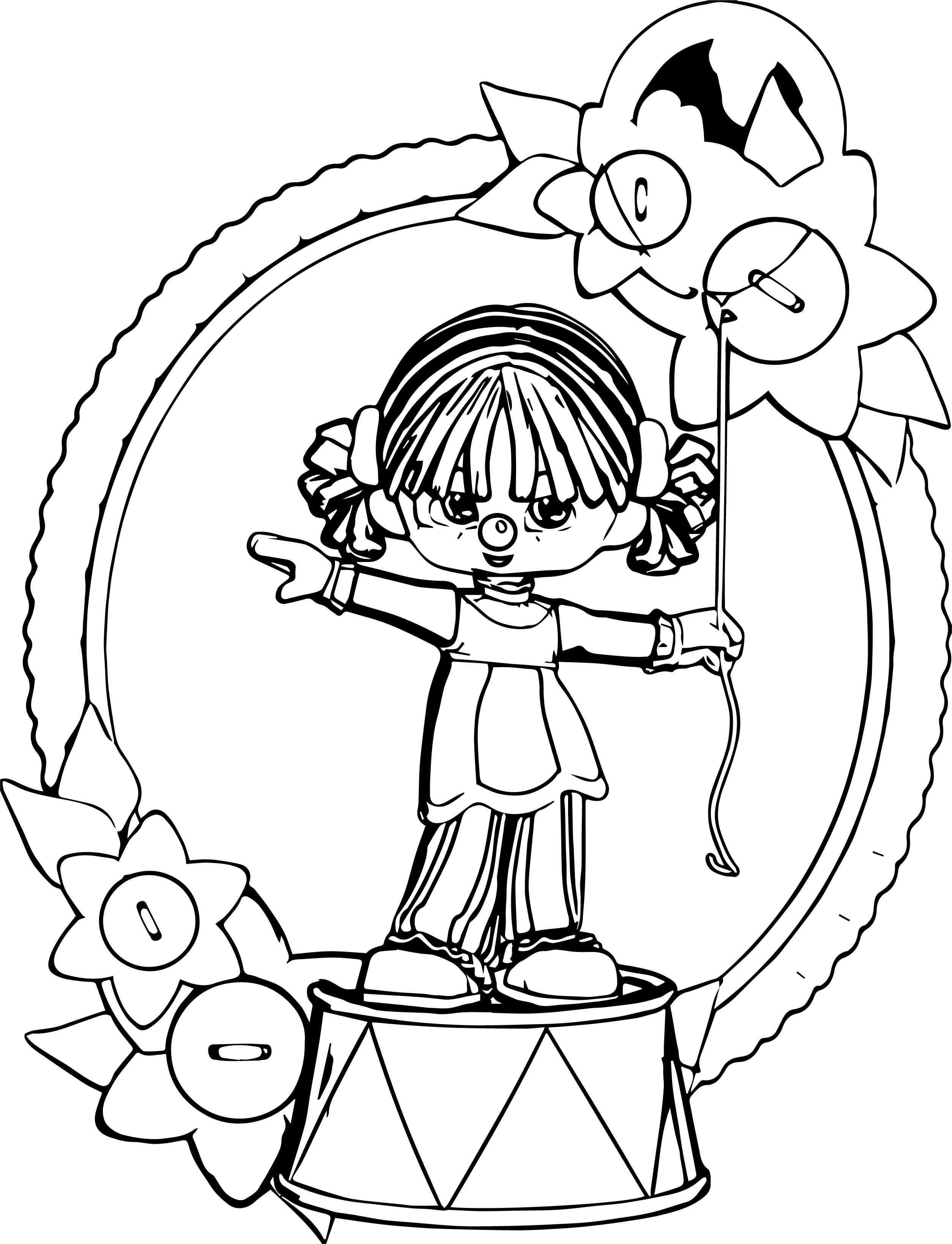 Place Birthday Clown Coloring Page
