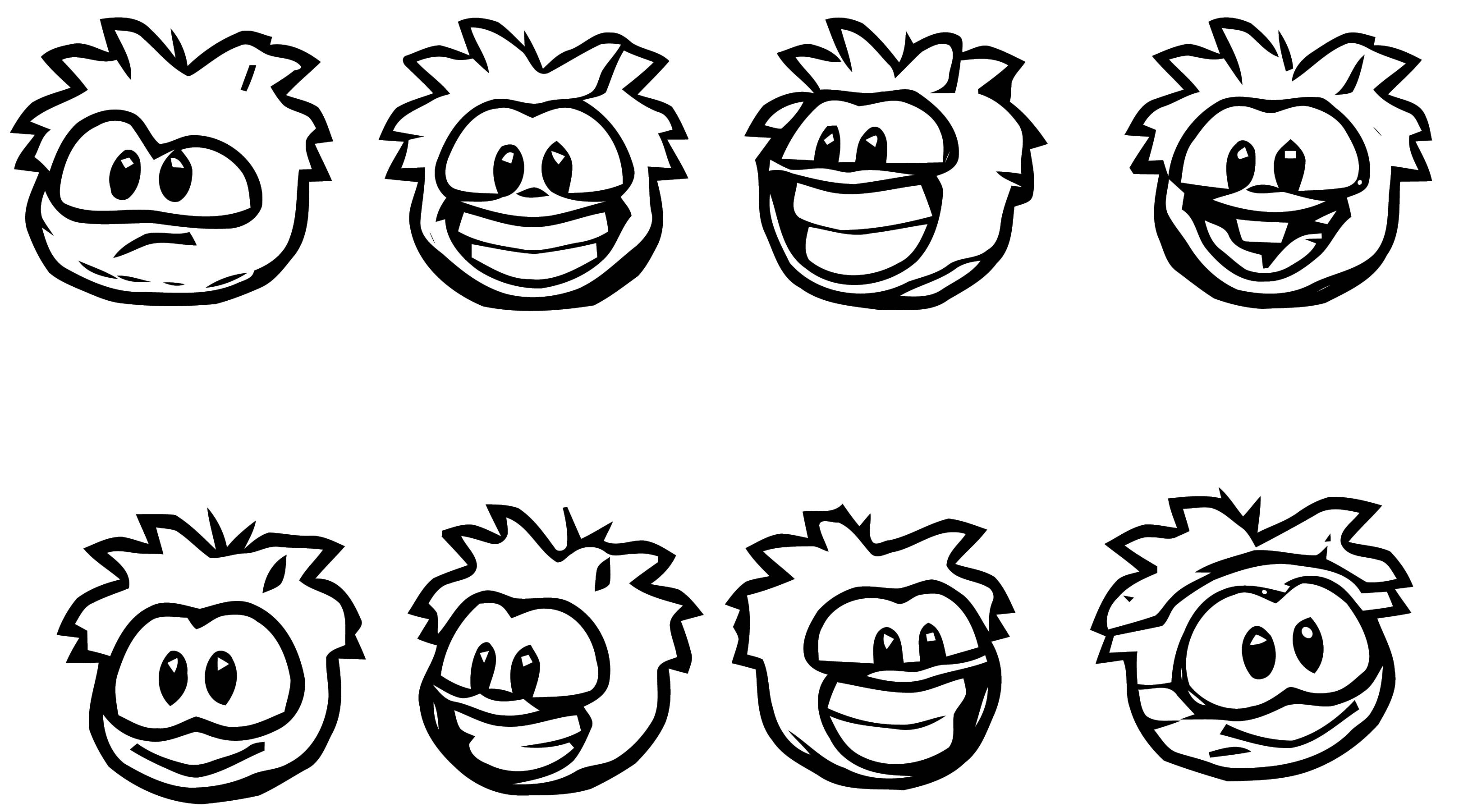Puffle Basic Close Up Coloring Page
