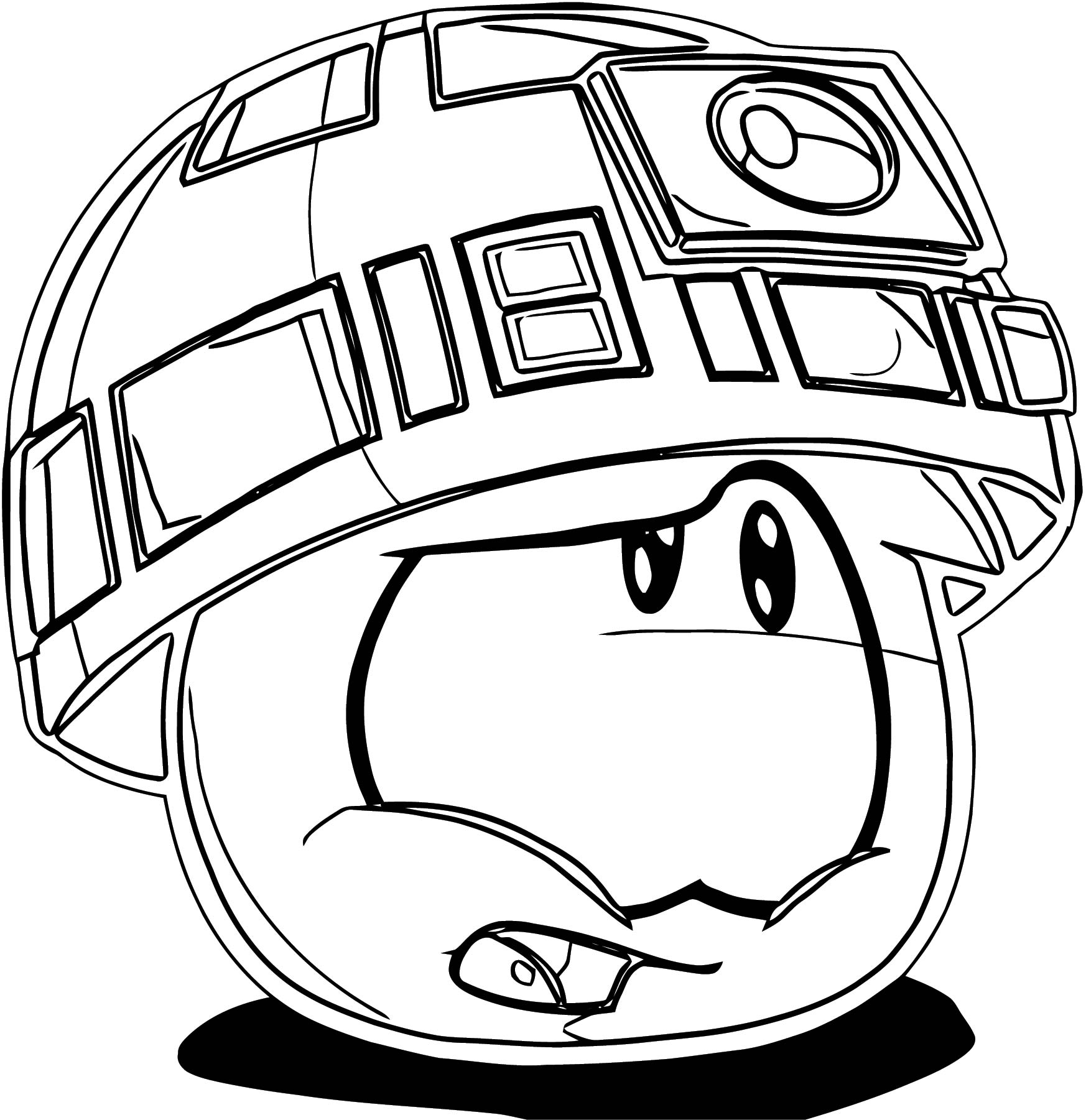 Puffle Star Wars T Coloring Page