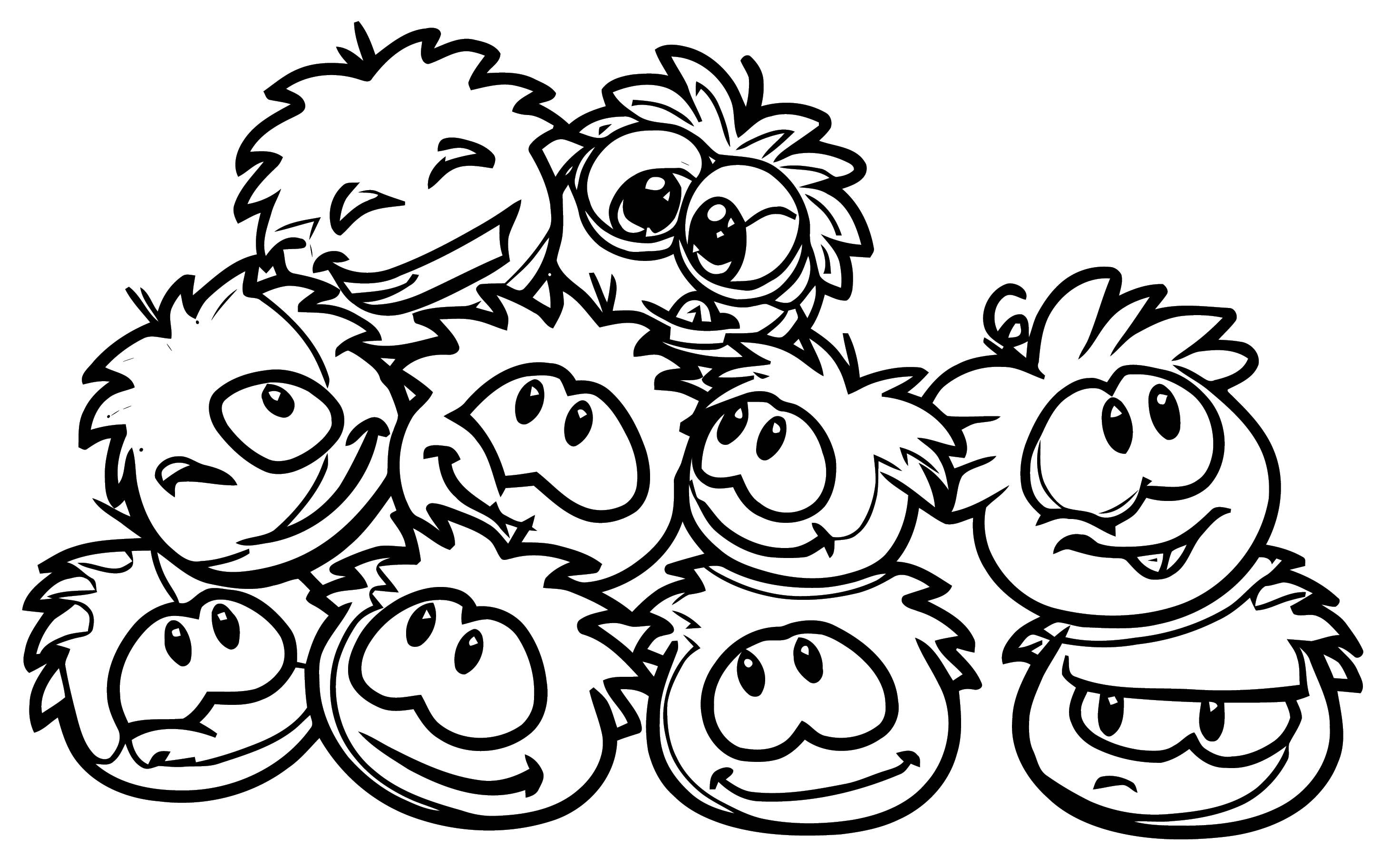 Puffles Club Penguin Coloring Page 1