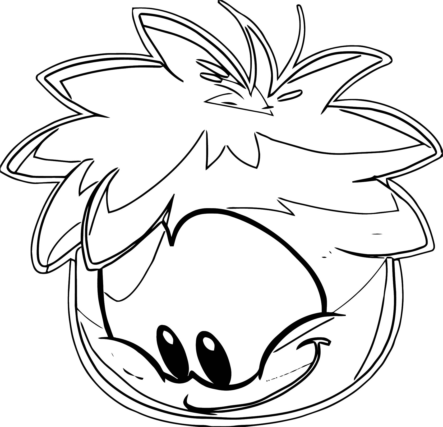 Rainbow Puffle 8 Coloring Page