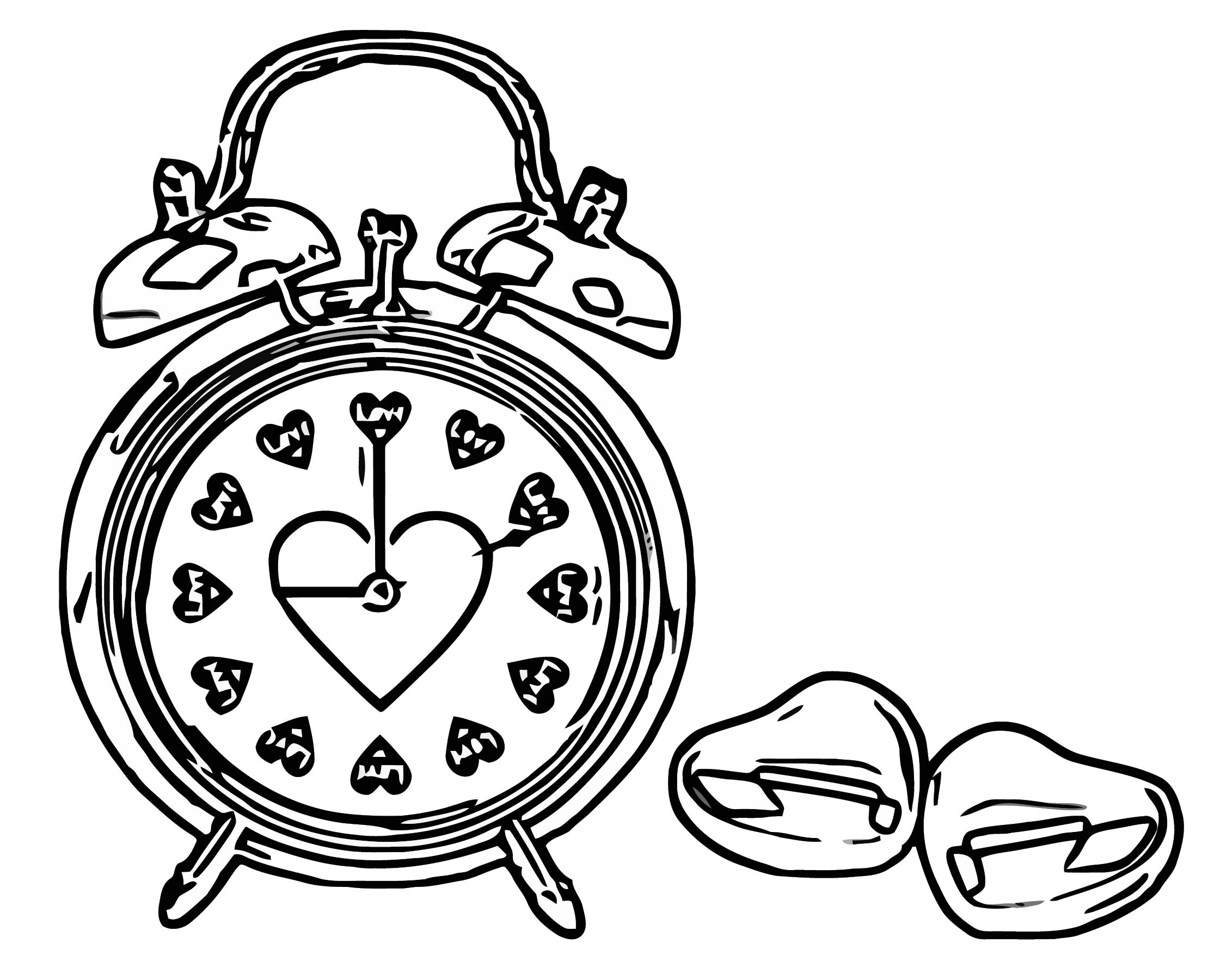 Red Hearts Love Clock Png Clipa Free Printable Rt Cartoonized Free Printable Coloring Page