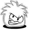 Red Puffle Coloring Page