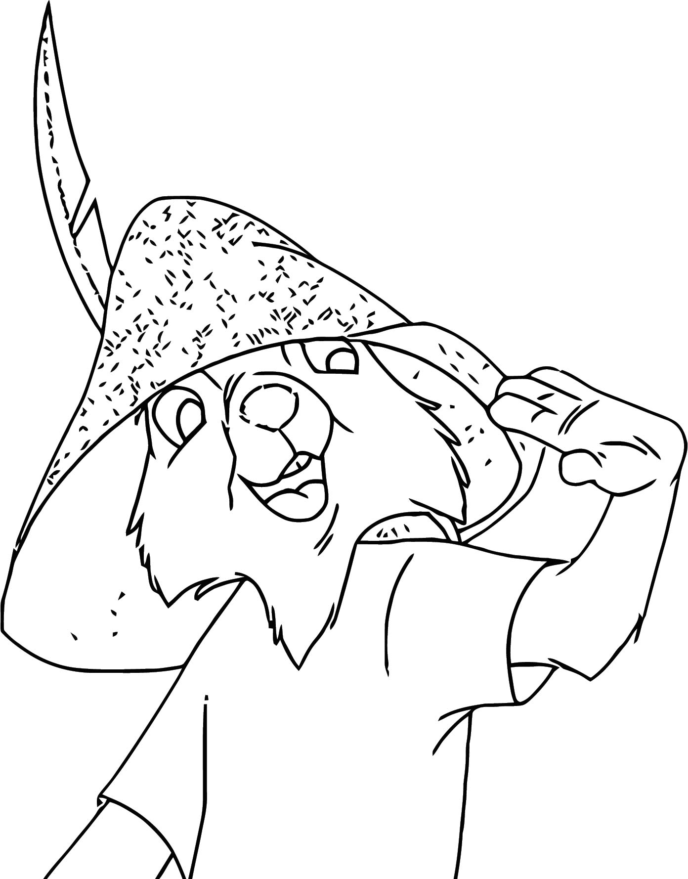 Robin Friend 1 Coloring Page