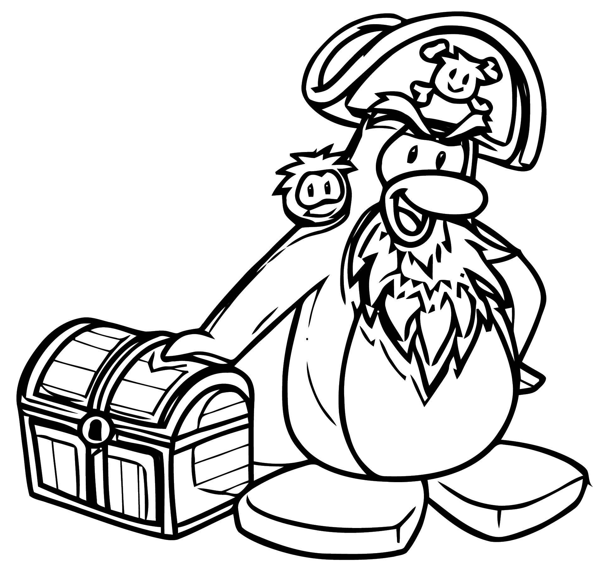 club penguin coloring pages of rockhopper exploration | Rockhopper Club Penguin Coloring Page | Wecoloringpage.com