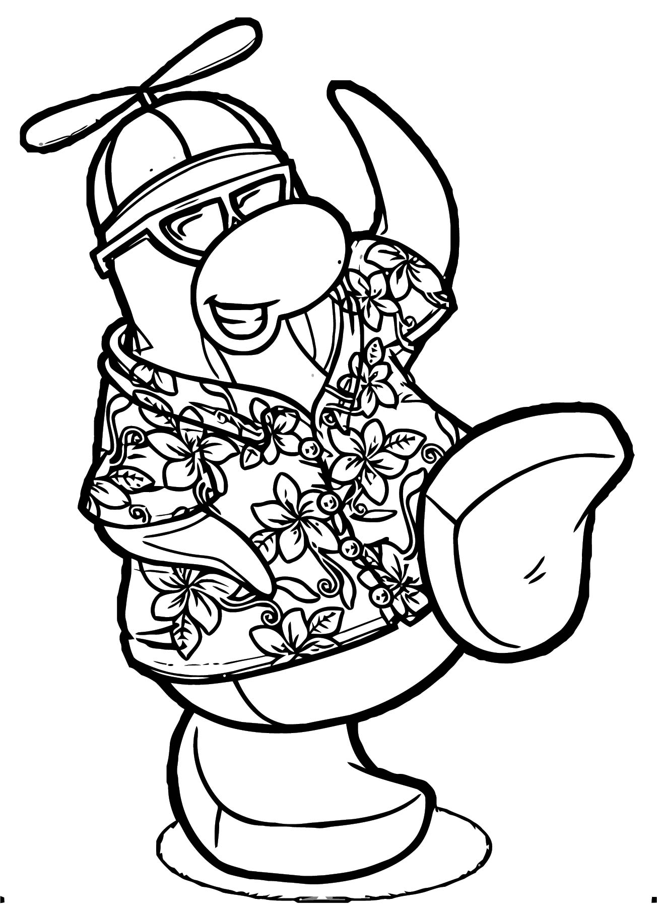Rookie Hawaiian Shirt Coloring Page