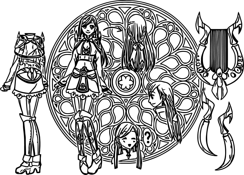 Sao Oc Character Design Cartoon Coloring Page