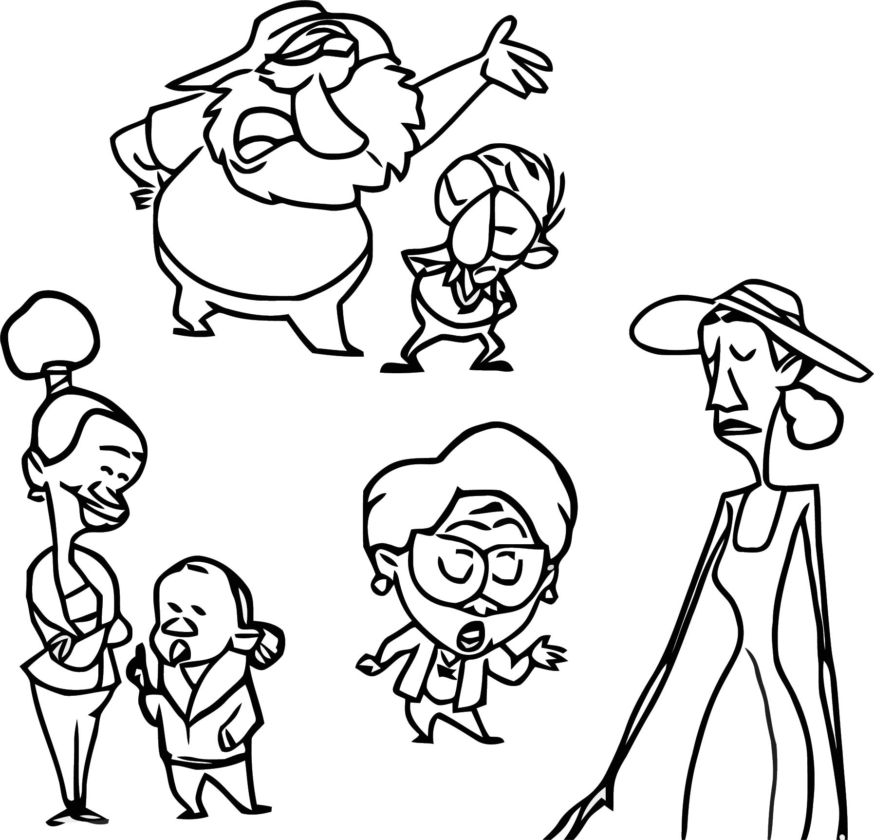 Sc Characters Talking Cartoon Coloring Page