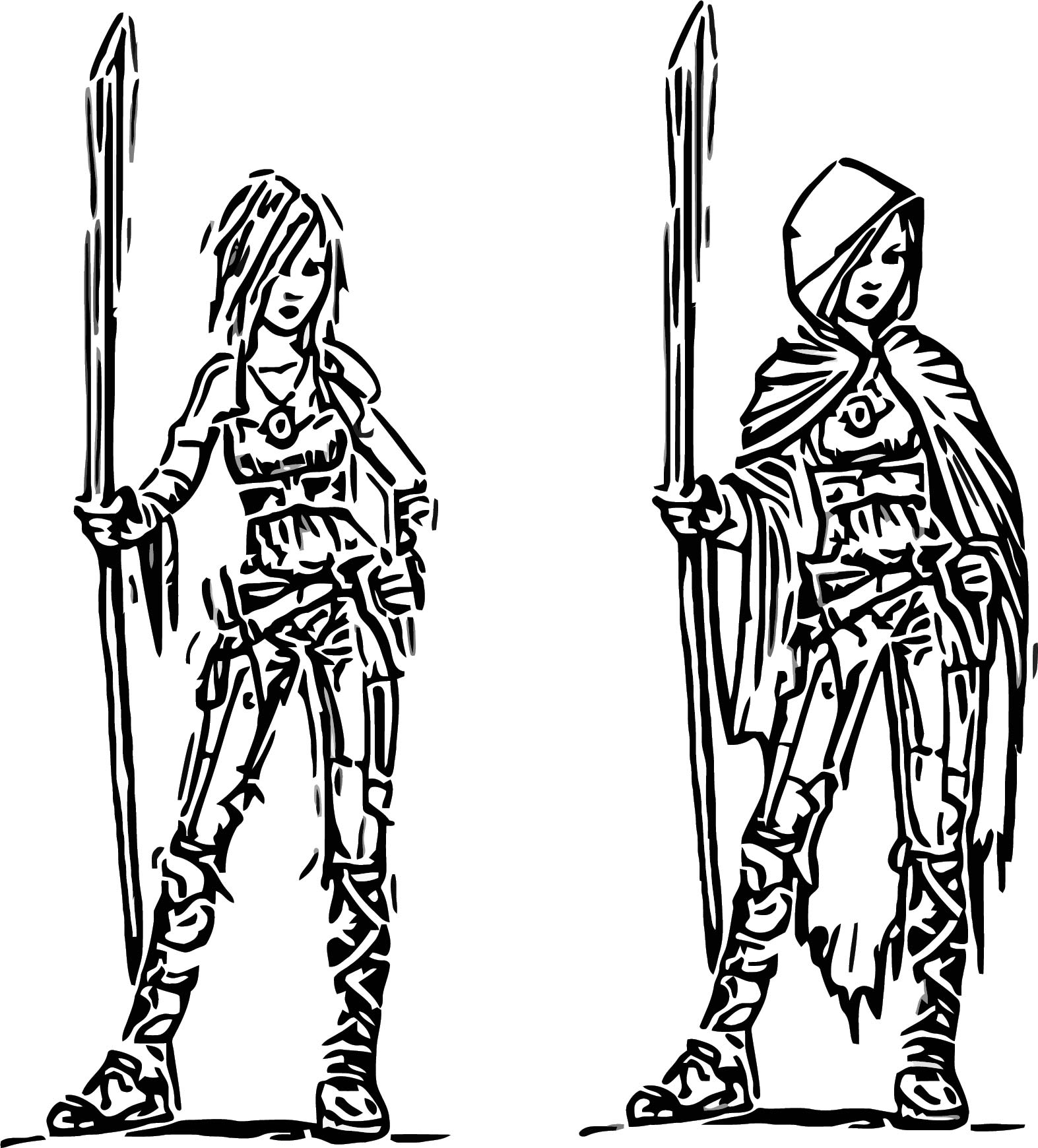 Sintel Cartoon Girl Coloring Page