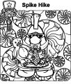 Spike Hike's Holiday Player Coloring Page