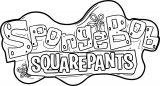 Sponge Sunger Bob SquarePants Logo Coloring Page
