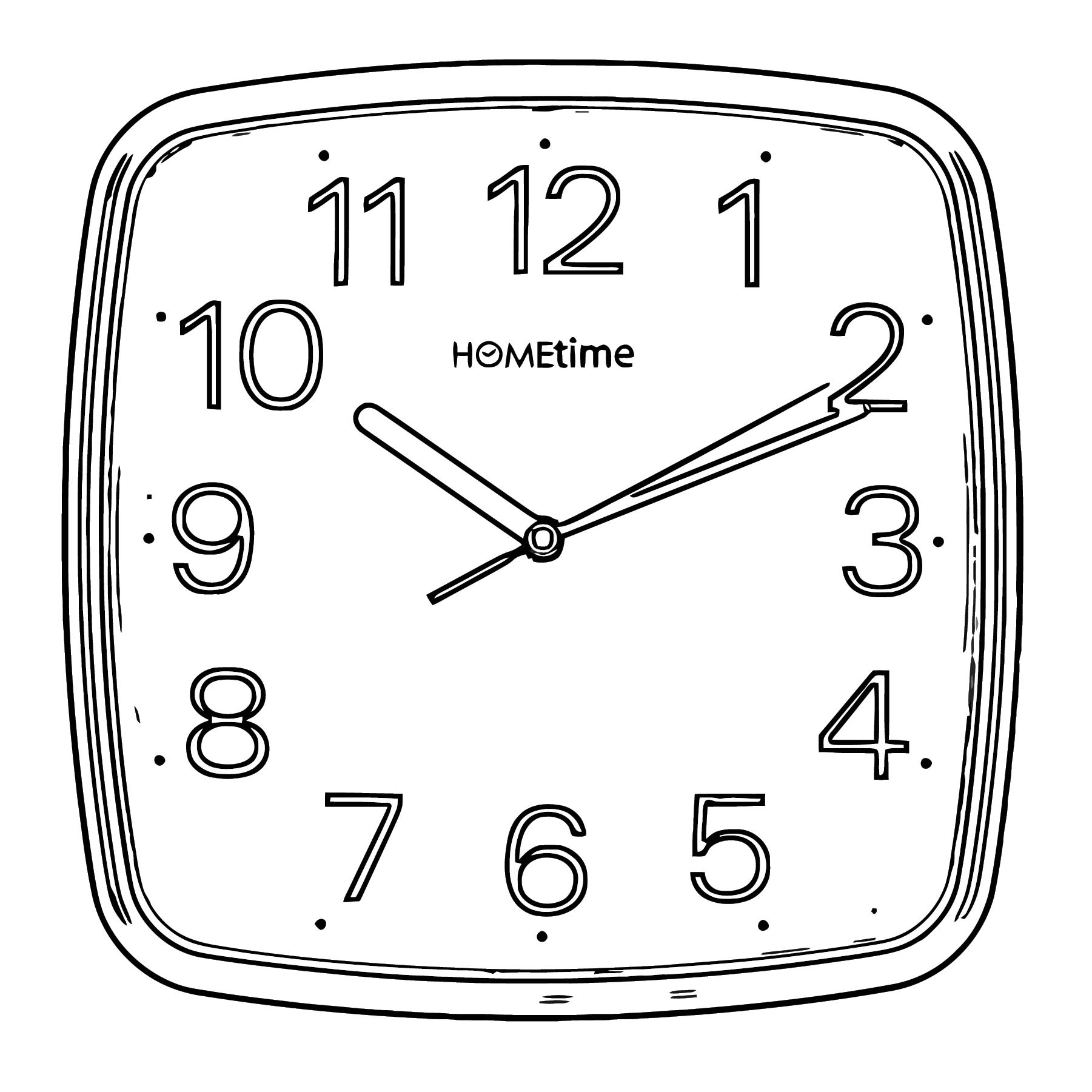 Square Wall Clocks 4975 Free Printable 05 Cartoonized Free Printable Coloring Page