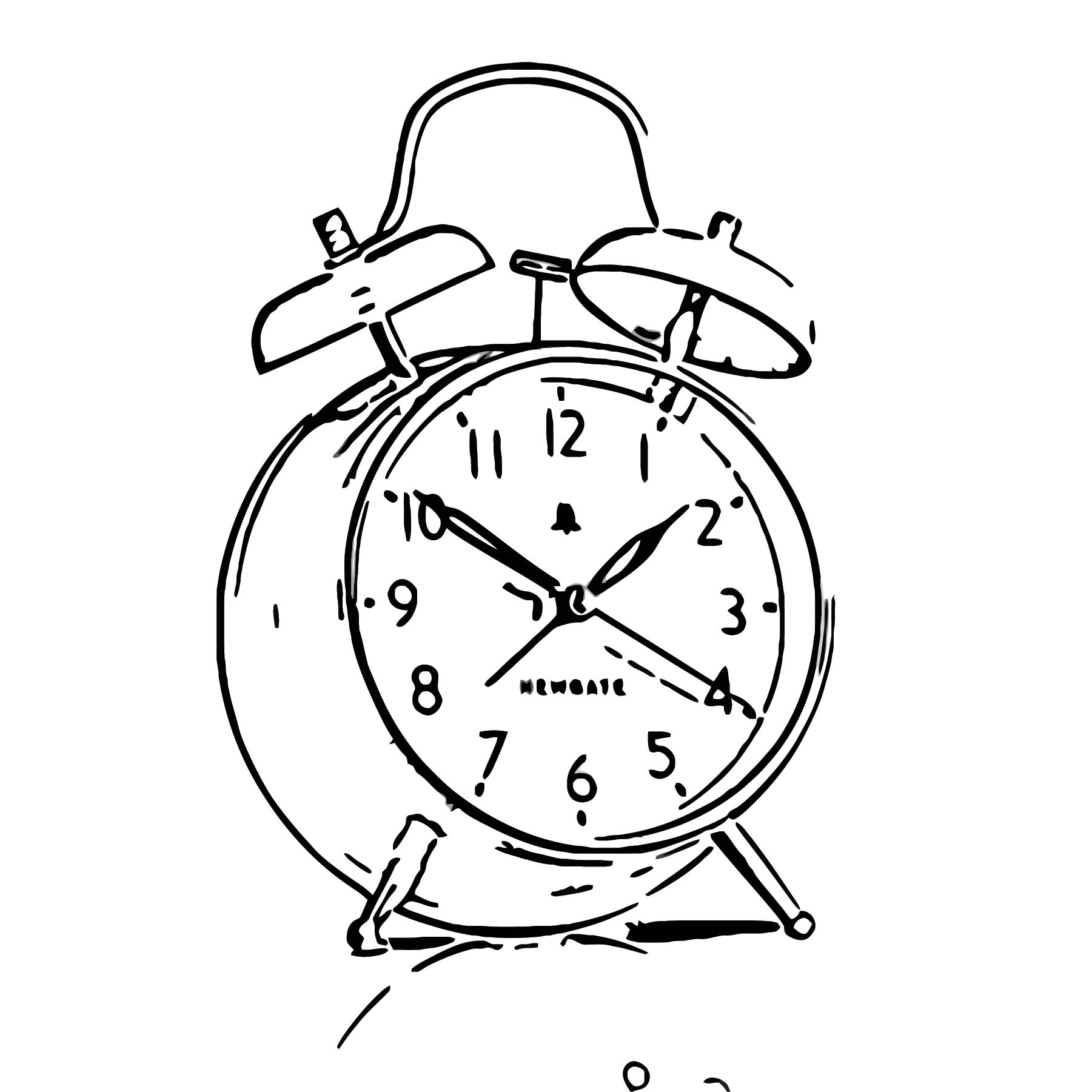 The New Covent Garden Alarm Clock Free Printable Sl Cartoonized Free Printable Coloring Page