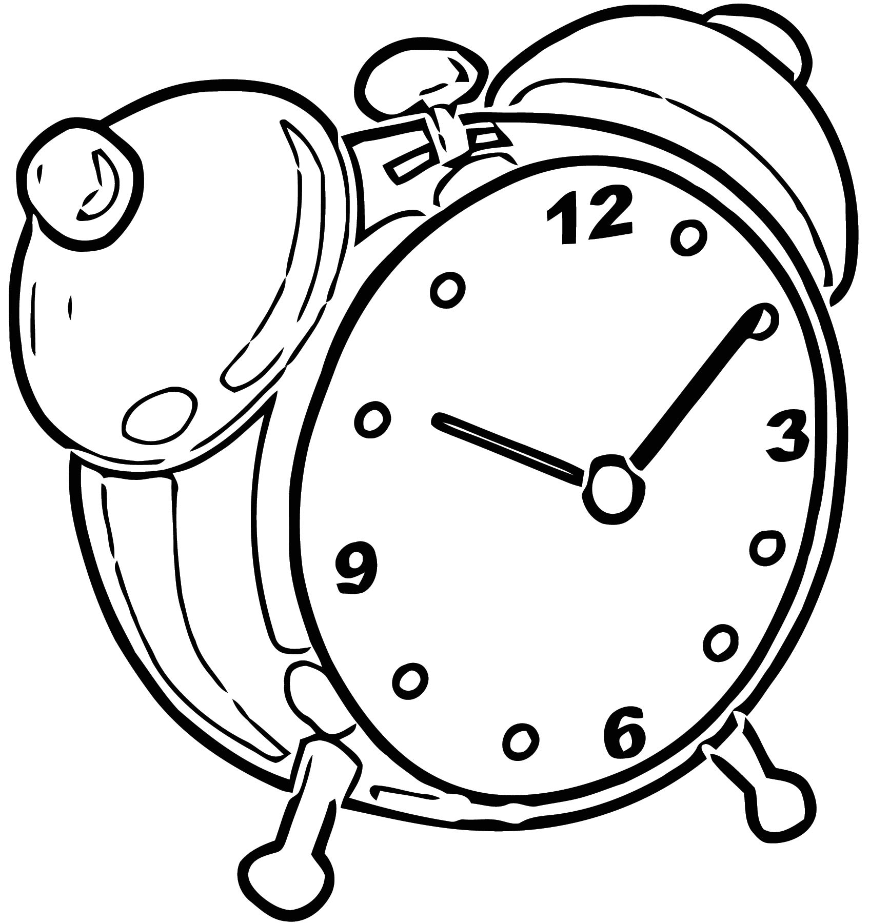 Time Clock Clipart Free Printable 1 Cartoonized Free Printable Coloring Page