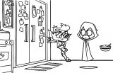 Ttg Waiting On Door Coloring Page
