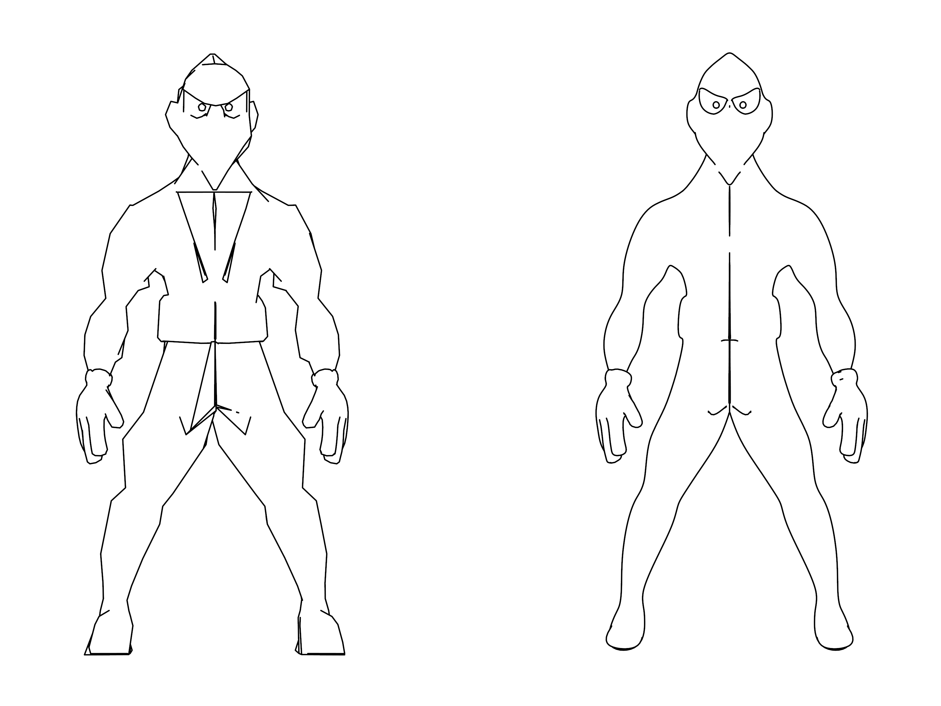 Two Ninja Coloring Page