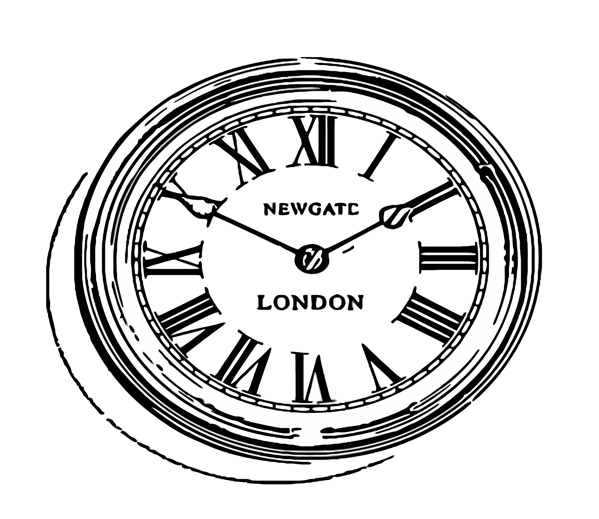 World Time Clock Lond Free Printable On Cartoonized Free Printable Coloring Page