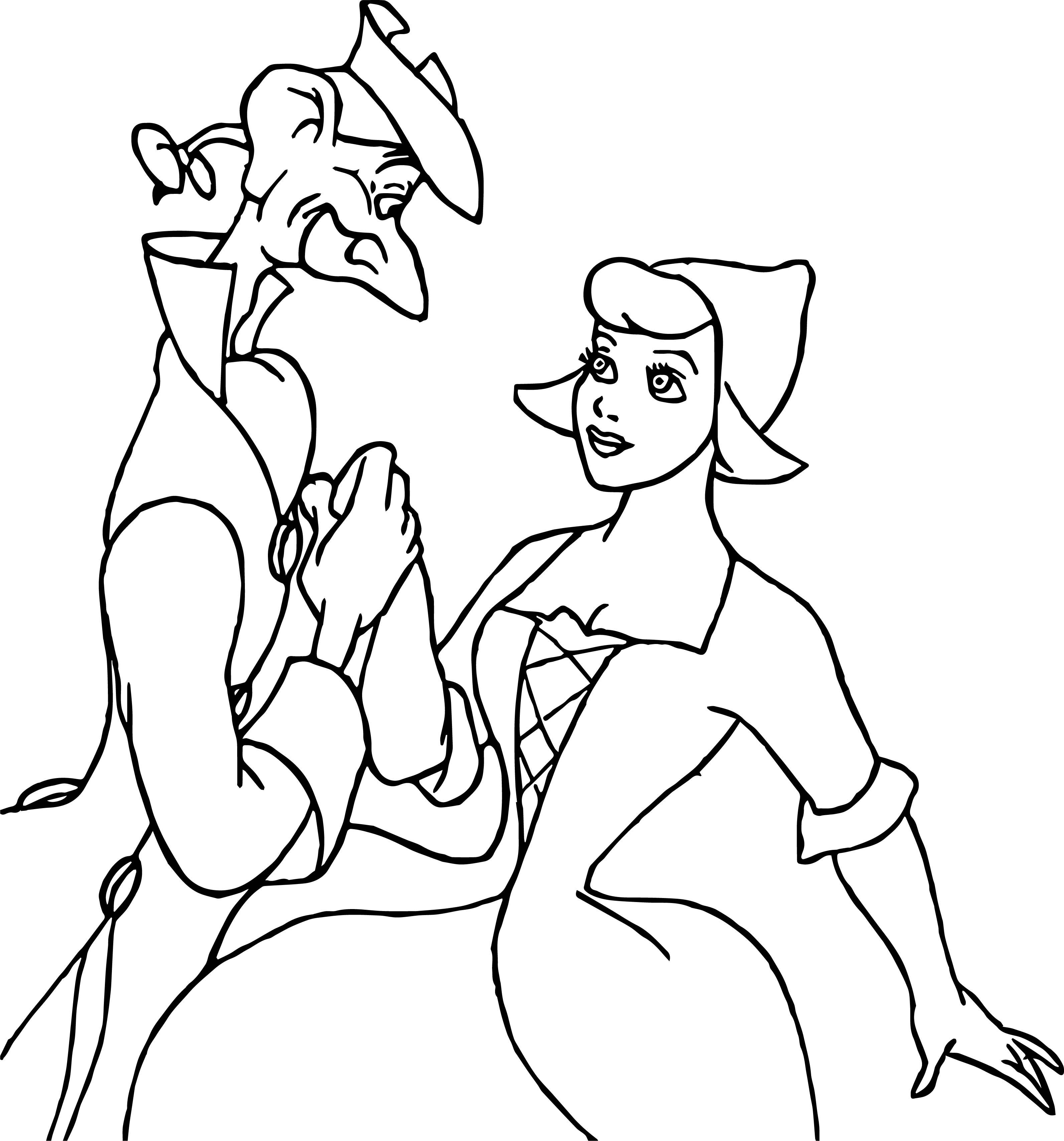 mira and princess taod ichabod coloring page