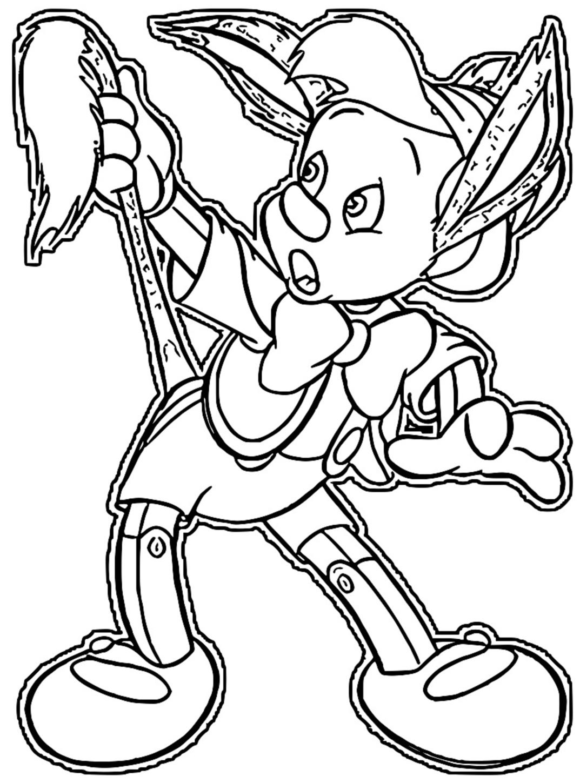 pinocchio donkey 2 coloring page cartoonized