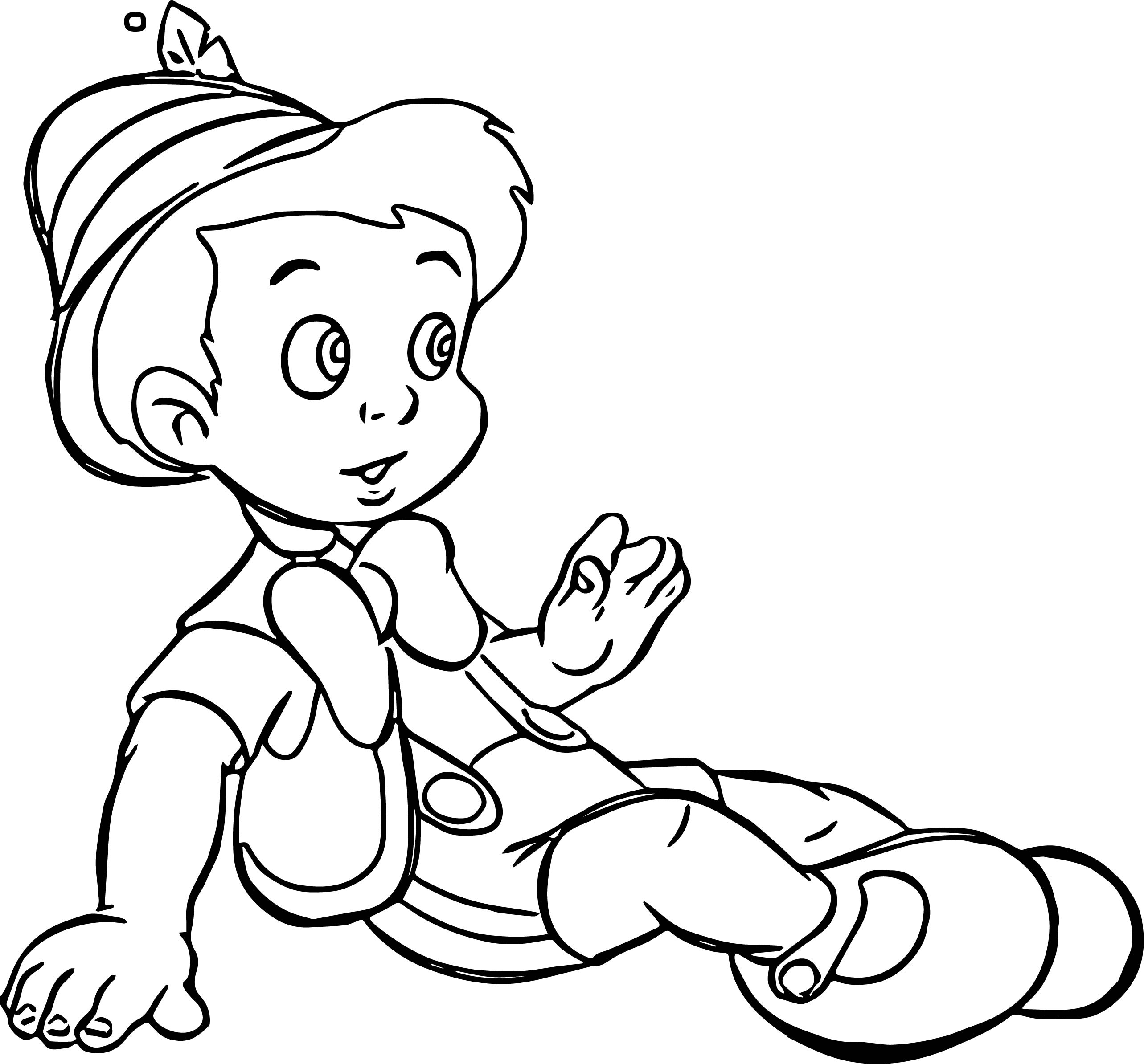 pinocchio real boy coloring page